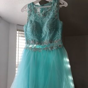 Lovely Teal/turquoise dama dress for any party